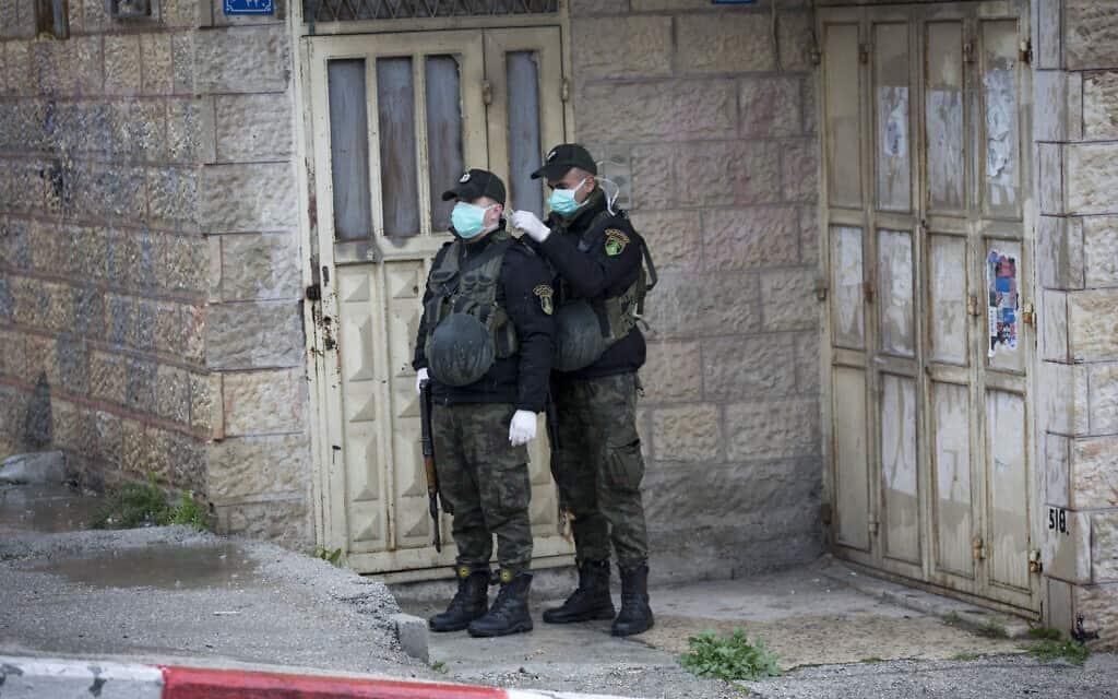 משבר הקורונה בבית לחם, מרץ 2020 (צילום: AP Photo/Majdi Mohammed)