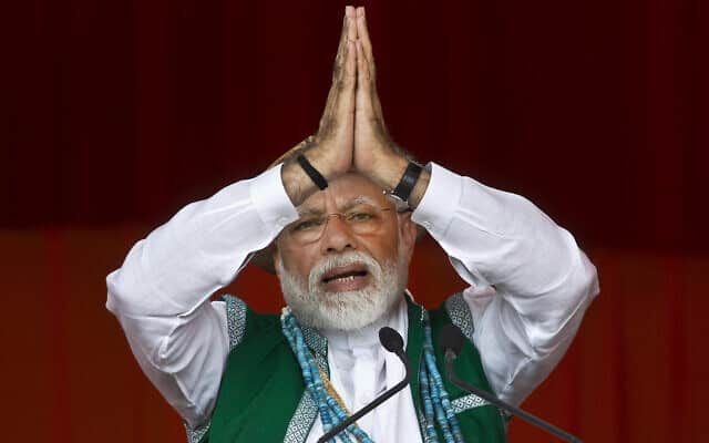 ראש ממשלת הודו נרנדרה מודי (צילום: AP Photo/Anupam Nath)
