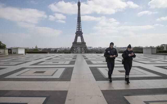 משבר הקורונה בצרפת, אפריל 2020 (צילום: AP Photo/Michel Euler)