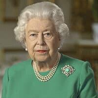 המלכה אליזבת נואמת לאומה ב-5 באפריל 2020 (צילום: Buckingham Palace via AP)