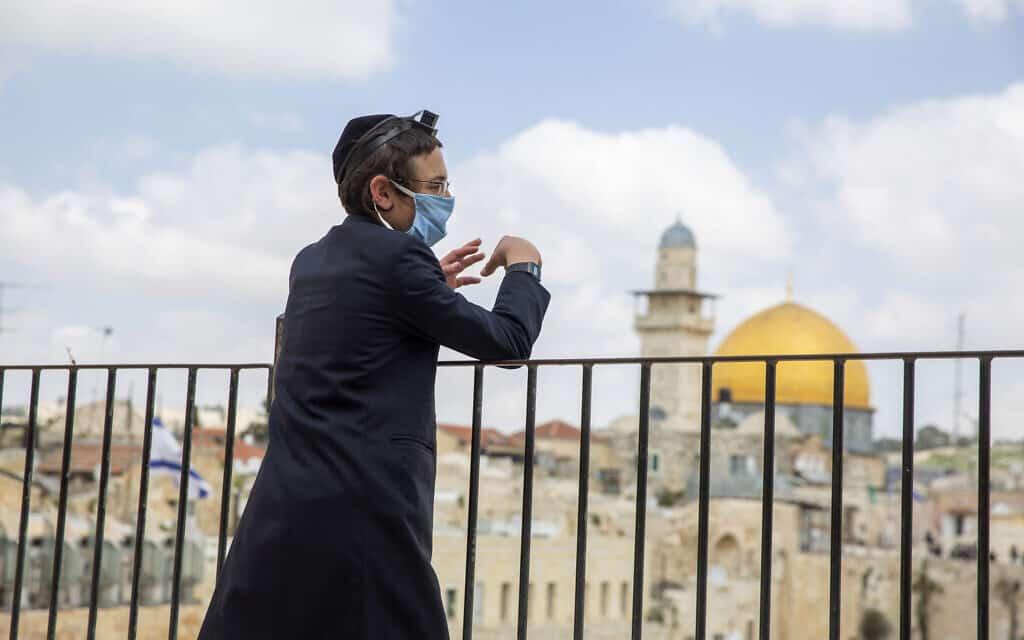 ערב פסח 2020 בירושלים (צילום: AP Photo/Ariel Schalit)