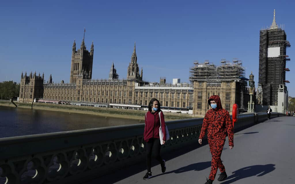 Virus Outbreak Britain Virtual Parliament