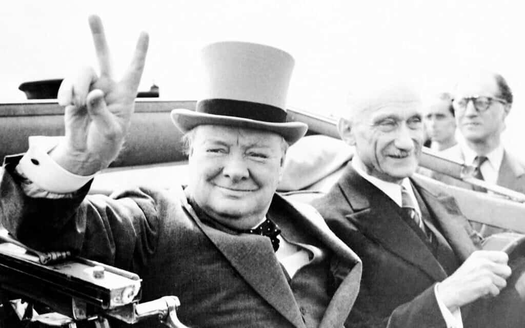וינסטון צ׳רצ׳יל ב-1946 (צילום: AP Photo)
