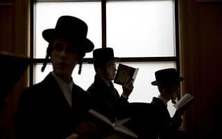 חסידים בתפילה. למצולמים אין קשר לכתבה (צילום: AP Photo/Ariel Schalit)
