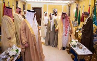 במפגש מנהיגי מדינות המפרץ במועצת איחוד המפרץ בריאד ב-2018 (צילום: Saudi-Press-Agency-via-AP)