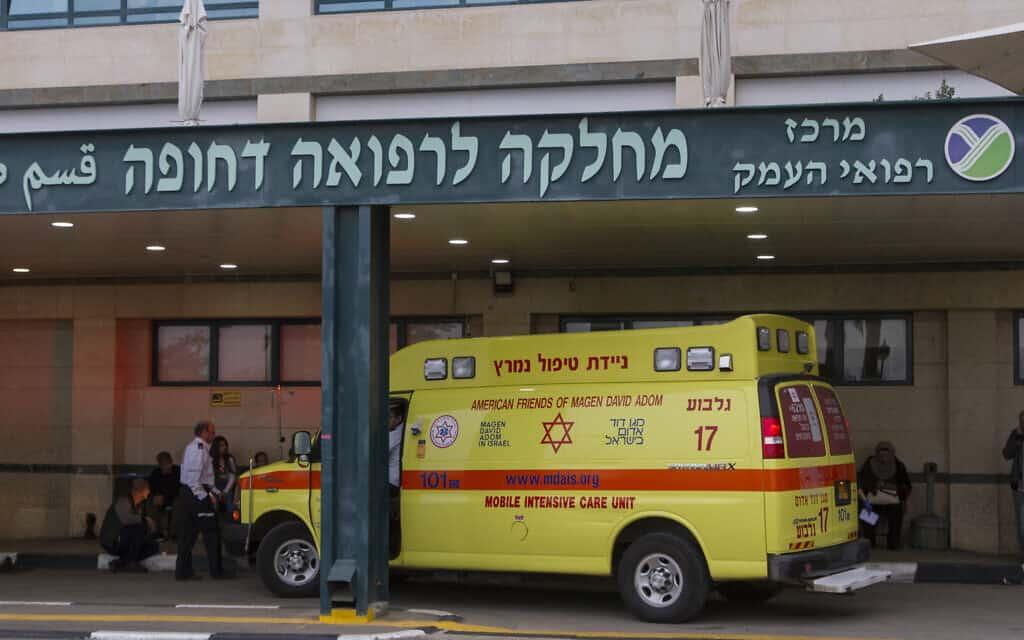 מחלקה לטיפול נמרץ בבית חולים העמק בעפולה. ירידה חדה בהגעת חוליםפ לחדרי מיון בבתי החולים (צילום: Flash90)