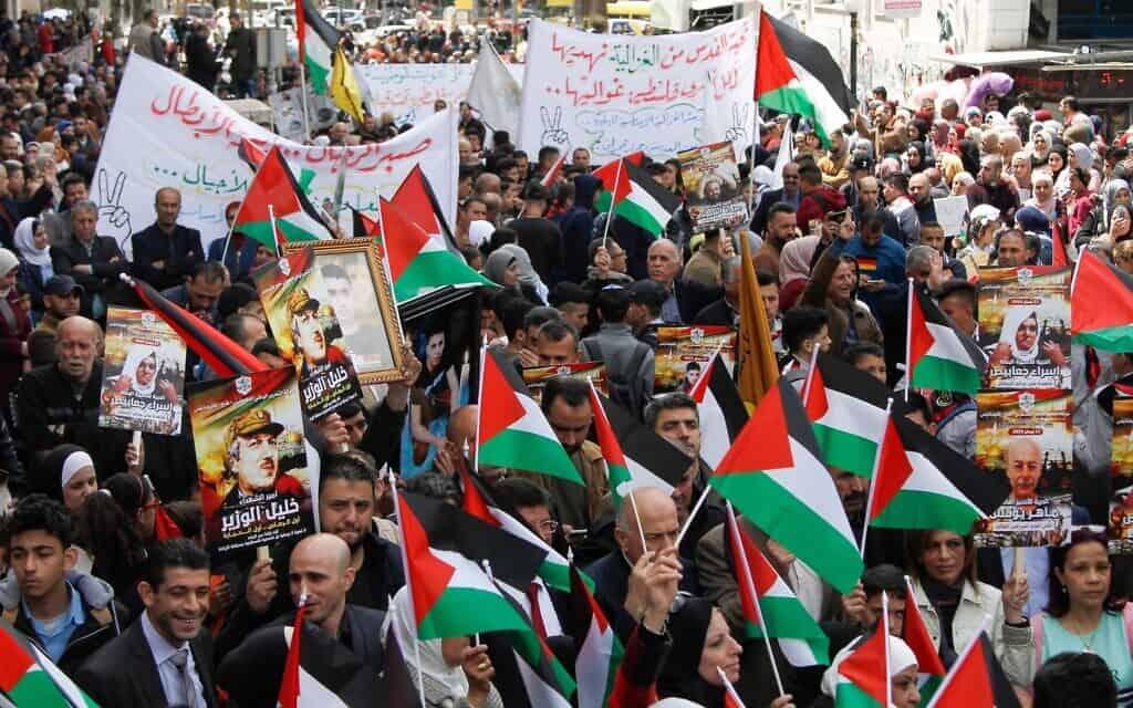 עצרת בשכם לציון יום האסירים הפלסטינים. אפריל 2019 (צילום: Nasser Ishtayeh/Flash90)