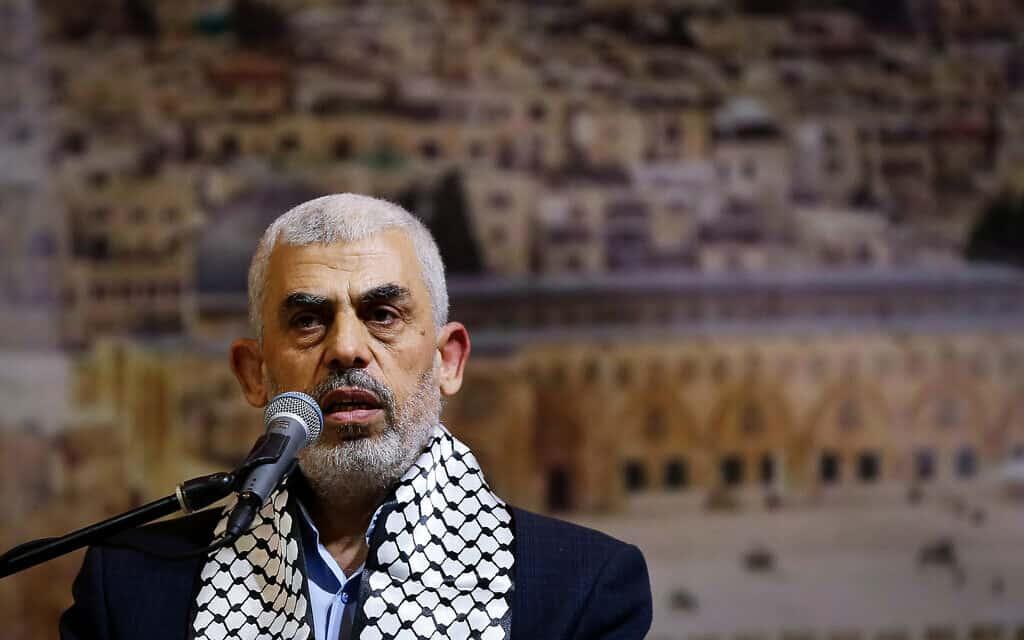 יחיא סינוואר (צילום: Abed Rahim Khatib/Flash90)