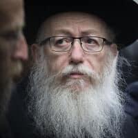 יעקב ליצמן (צילום: הדס פרוש/פלאש90)