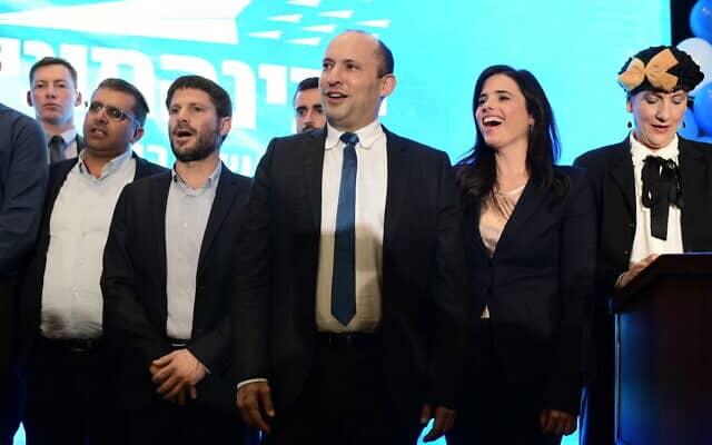 בכירי ימינה משיקים את קמפיין הבחירות שלהם, פברואר 2020 (צילום: Tomer Neuberg/FLASH90)