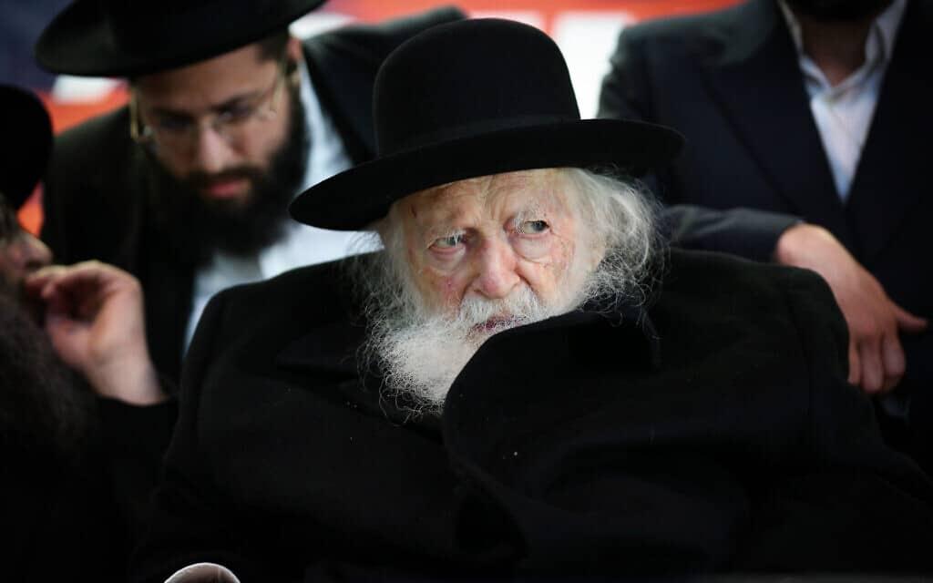 הרב חיים קנייבסקי (צילום: דוד כהן/פלאש90)