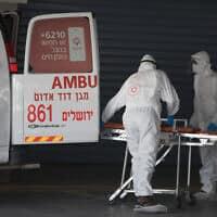 המרכז הרפואי שערי צדק בירושלים, 3 באפריל 2020 (צילום: נתי שוחט, פלאש 90)