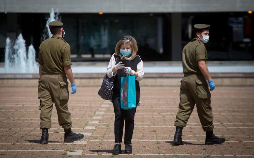 משבר הקורונה, כיכר רבין בתל אביב (צילום: Miriam Alster/Flash90)