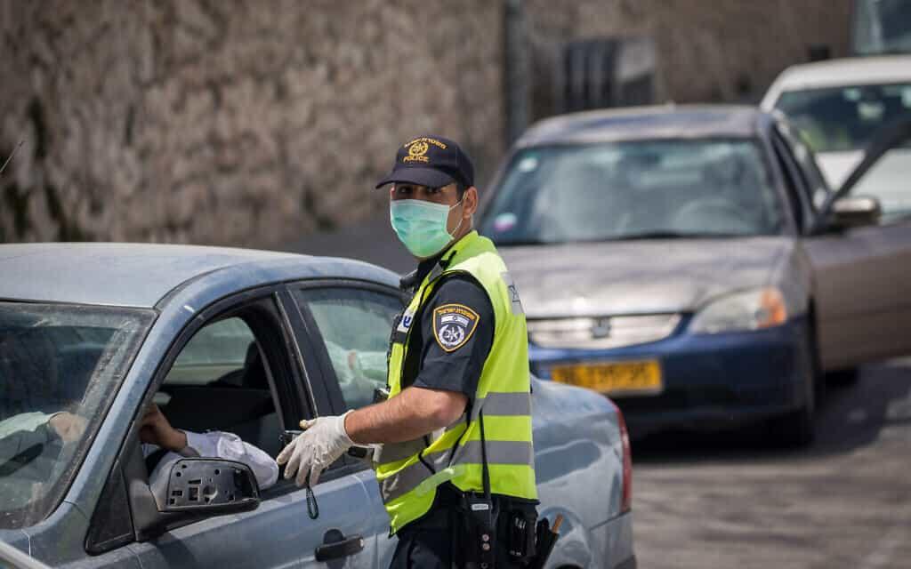 ערב פסח 2020: בדיקות רכבים בכניסה לירושלים (צילום: יונתן זינדל/פלאש90)