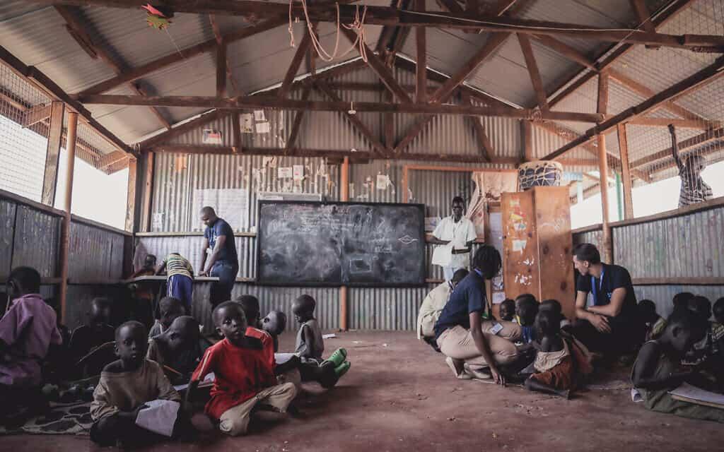 מרכז הילדים של ישראייד במחנה הפליטים קקומה, קניה (צילום: ליאור ספרנדאו/ישראייד)