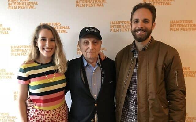 """הנרי דאומן, ניקול סוארז ופיטר קנת' ג'ונס בהקרנת הבכורה של """"הנרי דאומן: להסתכל למעלה"""" בפסטיבל הקולנוע הבינלאומי של המפטונס ב-2018 (צילום: Courtesy)"""