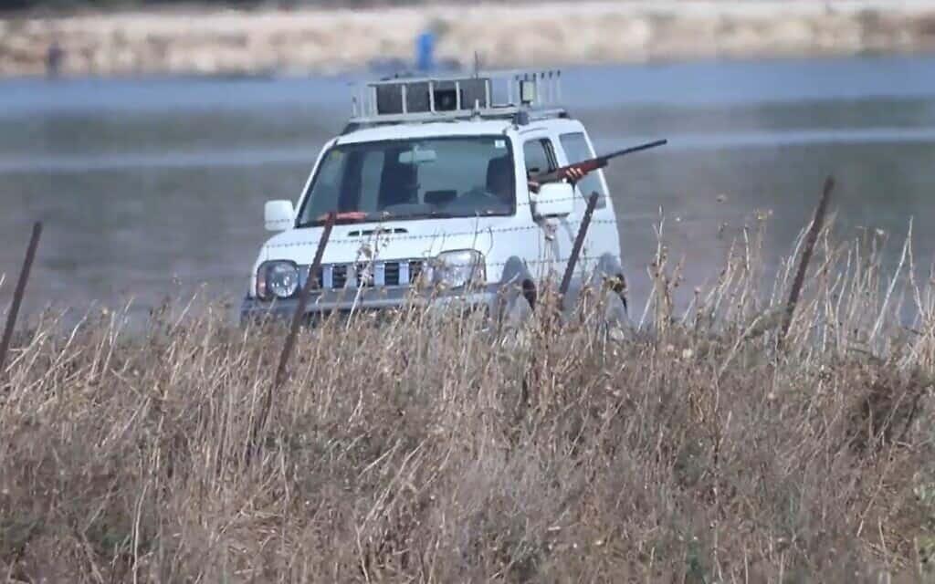 תיעוד ירי על שקנאים בצפון, צילום מסך מתוך סרטון של אופיר בן חמו