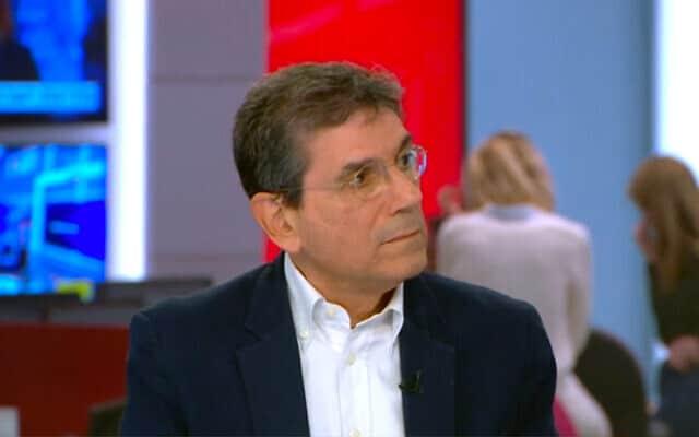 פרופ' גבי ברבש (צילום: צילום מסך חדשות 12)