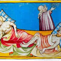 Miniature out of the Toggenburg Bible (Switzerland) of 1411