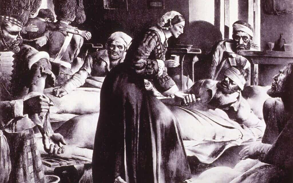 פלורנס נייטינגייל מטפלת בחולים, 1854, National Library of Medicine
