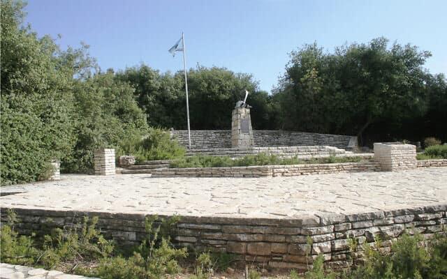 אתר הזיכרון 'תא הטייסים' לזכר נופלי חייל האוויר בהרי ירושלים (צילום: שמואל בר-עם)