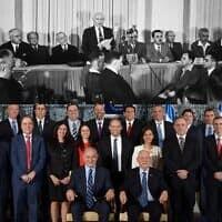 """הכרזת המדינה ותמונת הממשלה ב-2015 (צילום: רודי ויסנשטיין - משרד החוץ, אבי אוחיון - לע""""מ)"""