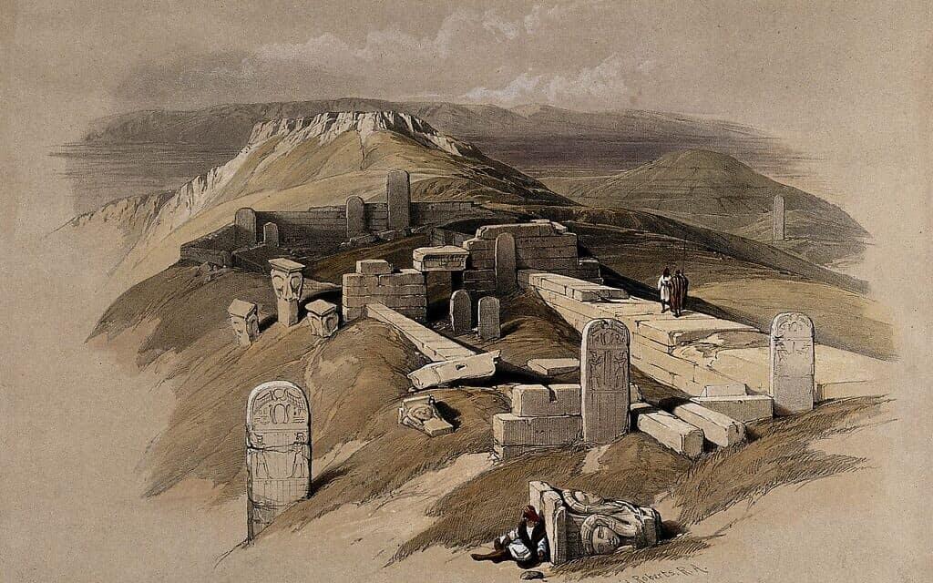 ציור של מקדש חתחור, המאה ה-19