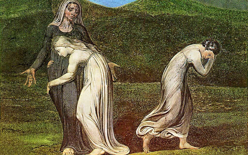 נעמי רות וערפה, ציור של ויליאם בלייק, 1795