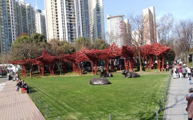 פארק בשנגחאי (צילום: יפעת פרופר)