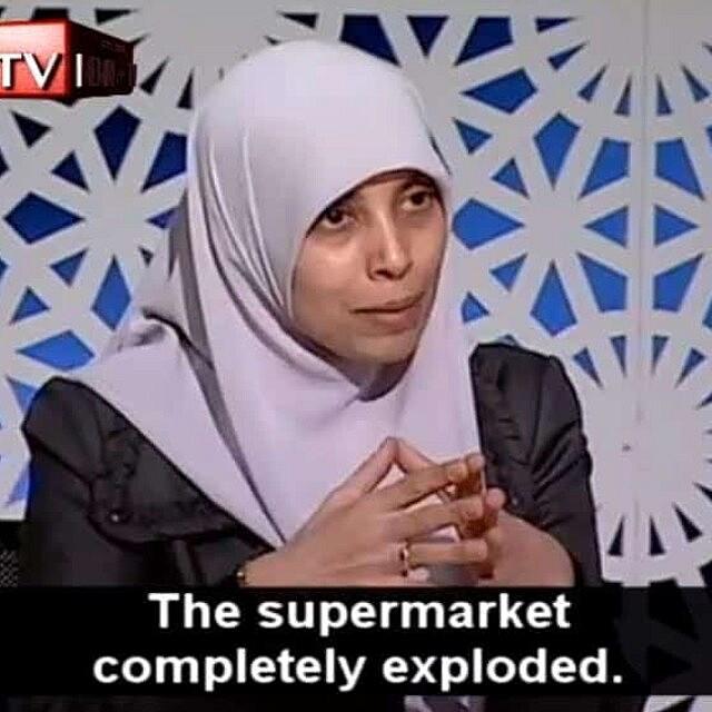 אחלאם תמימי בריאיון ב-2012, טוענת במרמה שפוצצה סופרמרקט במרתף של המשביר בירושלים (צילום: צילום מסך)