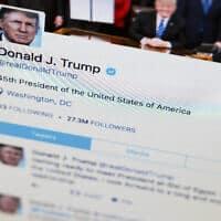 הפיד של דונלד טראמפ בטוויטר (צילום: AP Photo/J. David Ake)