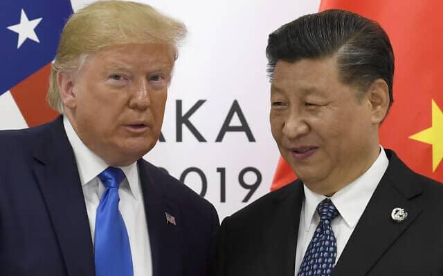דונלד טראמפ ושי ג'ינפינג (צילום: AP Photo/Susan Walsh)