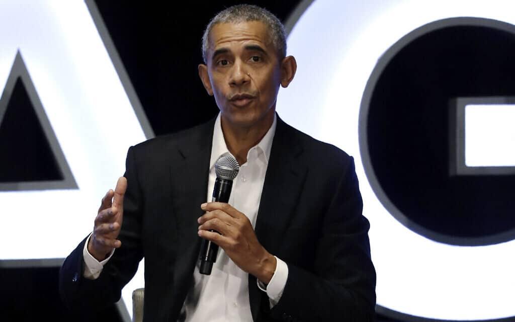 נשיא ארצות הברית לשעבר, ברק אובמה (צילום: Nam Y. Huh, AP)