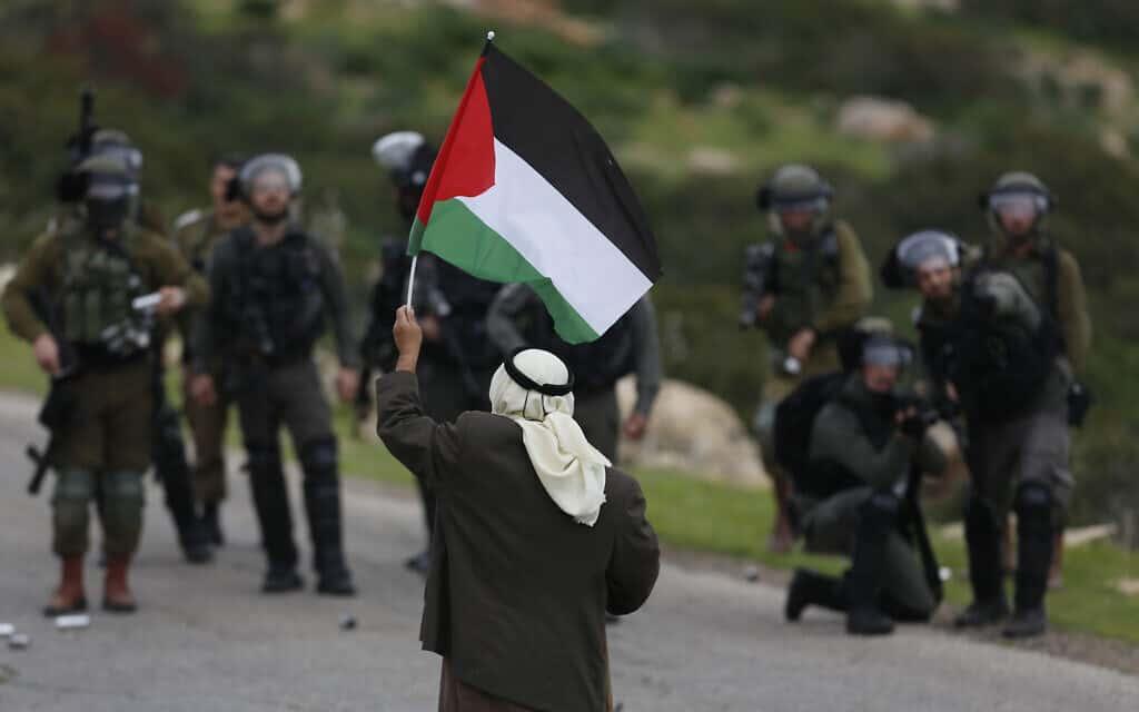Israel Palestinians (צילום: AP Photo/Majdi Mohammed)