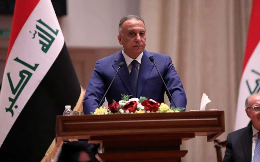 ראש ממשלת עיראק החדש, מוסטפא אל-כאזימי (צילום: Iraqi Parliament Media Office, via AP)