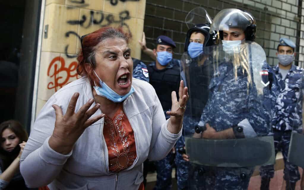 המחאה החברתית בלבנון נמשכת, מאי 2020 (צילום: AP Photo/Bilal Hussein)