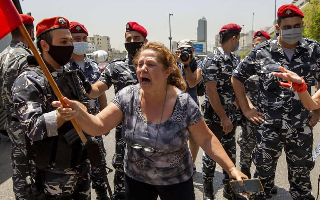 המחאה נגד המשטר בלבנון, 21 במאי 2020 (צילום: AP Photo/Hassan Ammar)