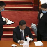 נשיא סין שי ג'ינפינג. מאי 2020 (צילום: AP Photo/Ng Han Guan, Pool)