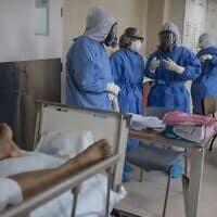 מחלקת טיפול נמרץ לחולי קוביד-19 בלימה שבפרו, 22 במאי 2020 (צילום: Rodrigo Abd, AP)