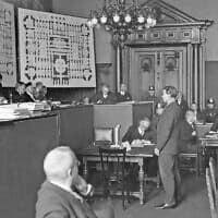 בית המשפט העליון בגרמניה ב-1933, במשפט שריפת הרייכסטג (צילום: AP Photo)