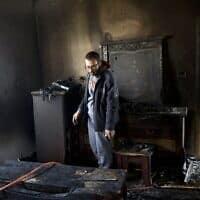 בית משפחת דוואבשה בדומא (צילום: AP Photo/Majdi Mohammed)