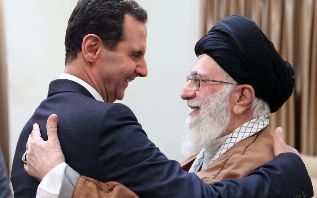 בשאר אסד והמנהיג האיראני העליון אייטולה עלי חמנאי (צילום: Office of the Iranian Supreme Leader via AP)
