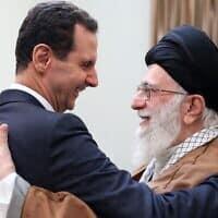 בשאר אסד והמנהיג האיראני העליון אייטולה עלי חמנאי (צילום: Office-of-the-Iranian-Supreme-Leader-via-AP-File)