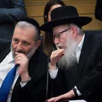 יעקב ליצמן ואריה דרעי (צילום: Yonatan Sindel/Flash90)