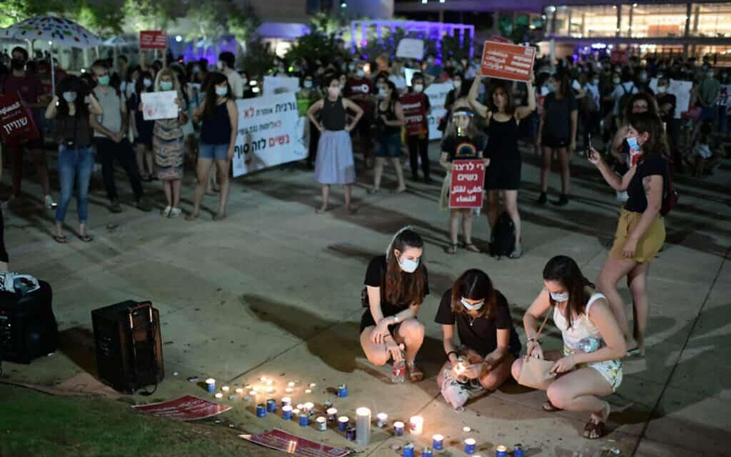 הפגנה נגד רצח נשים, כיכר הבימה תל אביב