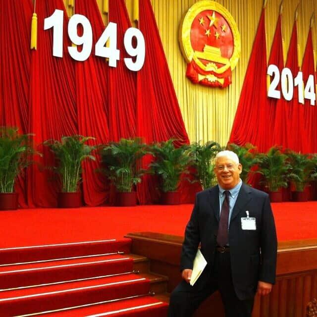 """פרופ' בן-כנען בטקס הענקת פרס """"ידיד סין"""", 2014"""