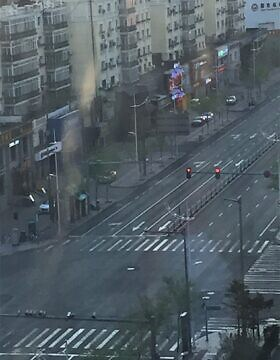 הרחוב הראשי בחרבין שומם, 21 באפריל 2020 (צילום: באדיבות בן-כנען)