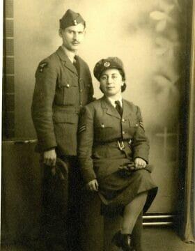 סם ודוריס מיארה (צילום: באדיבות מוזיאון RAF)