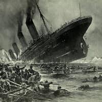 טביעת הטיטאניק, ציור: Willy Stöwer,