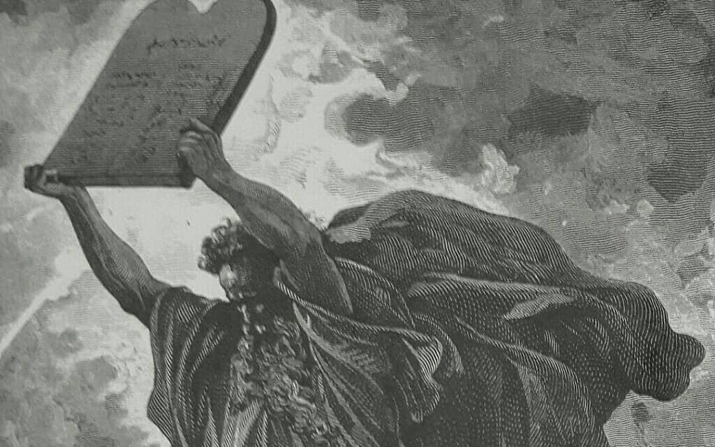 משה רבנו ועשרת הדברות, ציור: גוסטב דורה